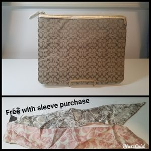 NWT Coach Signature Tablet Sleeve with FREE Pony